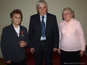 Zofia Zużałek, Adam Cyra i Józefa Handzlik.