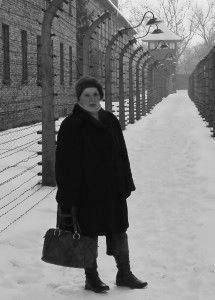 Aleksandra Garbuzowa w Muzeum Auschwitz-Birkenau. Fot. 2010 r.