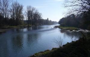 Rzeka Soła w Oświęcimiu